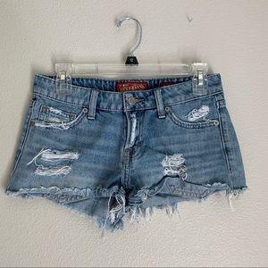 Lucky Brand Denim Distressed Cutoff Shorts 4